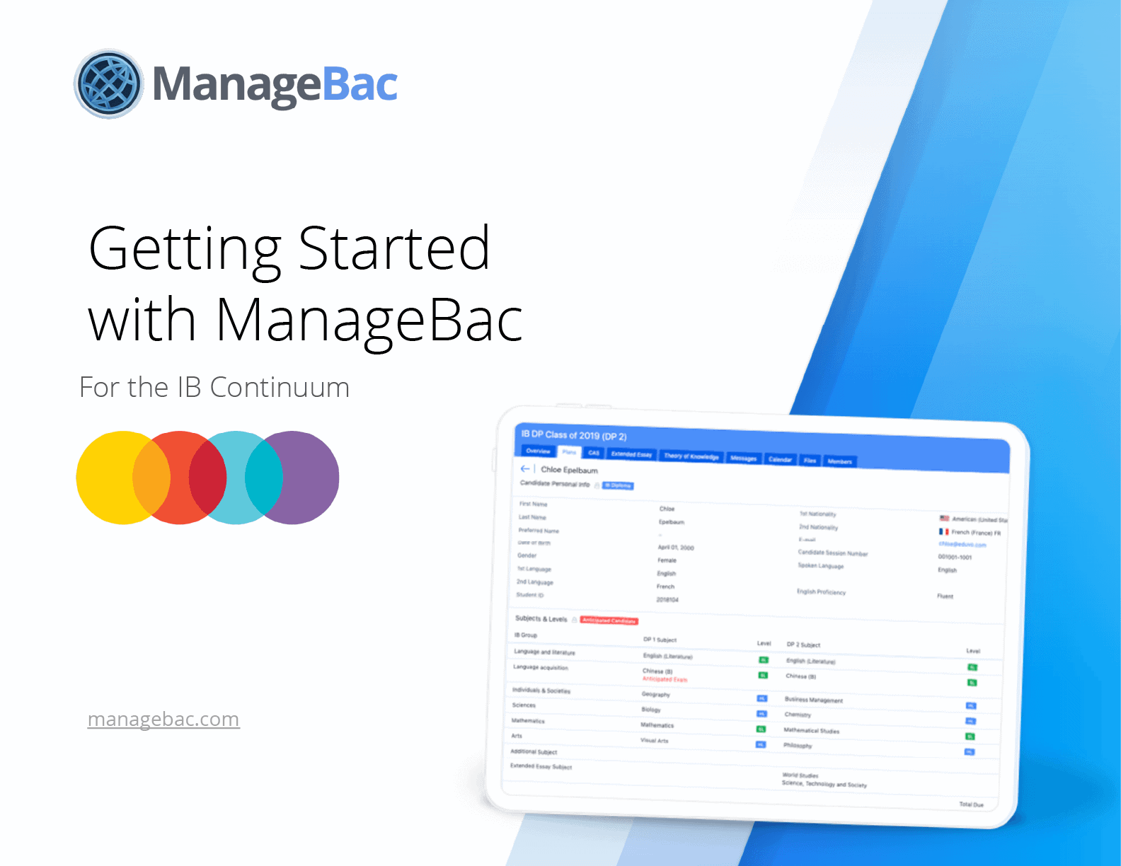 Getting Started with ManageBac for the IB Continuum